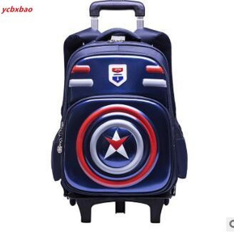 Rolling School Bag Children Trolley Backpacks Bag Kids Wheeled Backpack Trolly School Bags With Wheel Student Backpack On Wheels