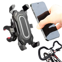 Soporte de teléfono para bicicleta, bloqueo seguro y protección completa, para bicicleta de montaña, motocicleta, GPS