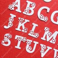 Metal Cutting Dies Stencils Alphabet Letter Frame Dies Scrapbooking Stamps Craft Background Stamps Die Cut New 2019 Card Making