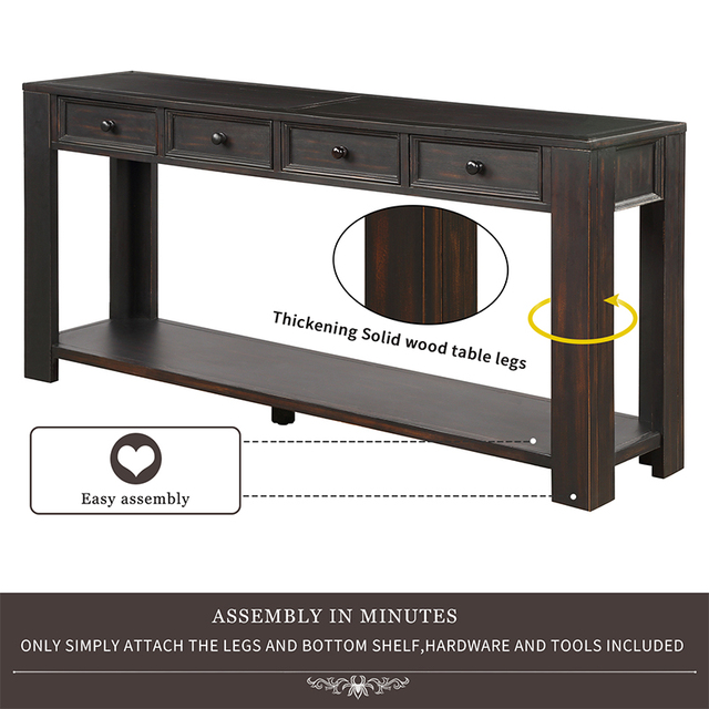 Console Side Entryway Sofa Table  3