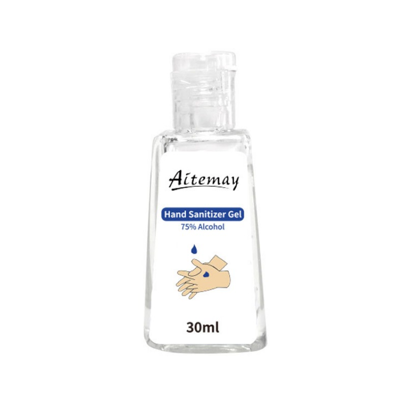 30ml Travel Portable Waterless Hand Sanitizer Anti-Bacteria Moisturizing Fruit-Scented Disposable Clear Bottle Hot