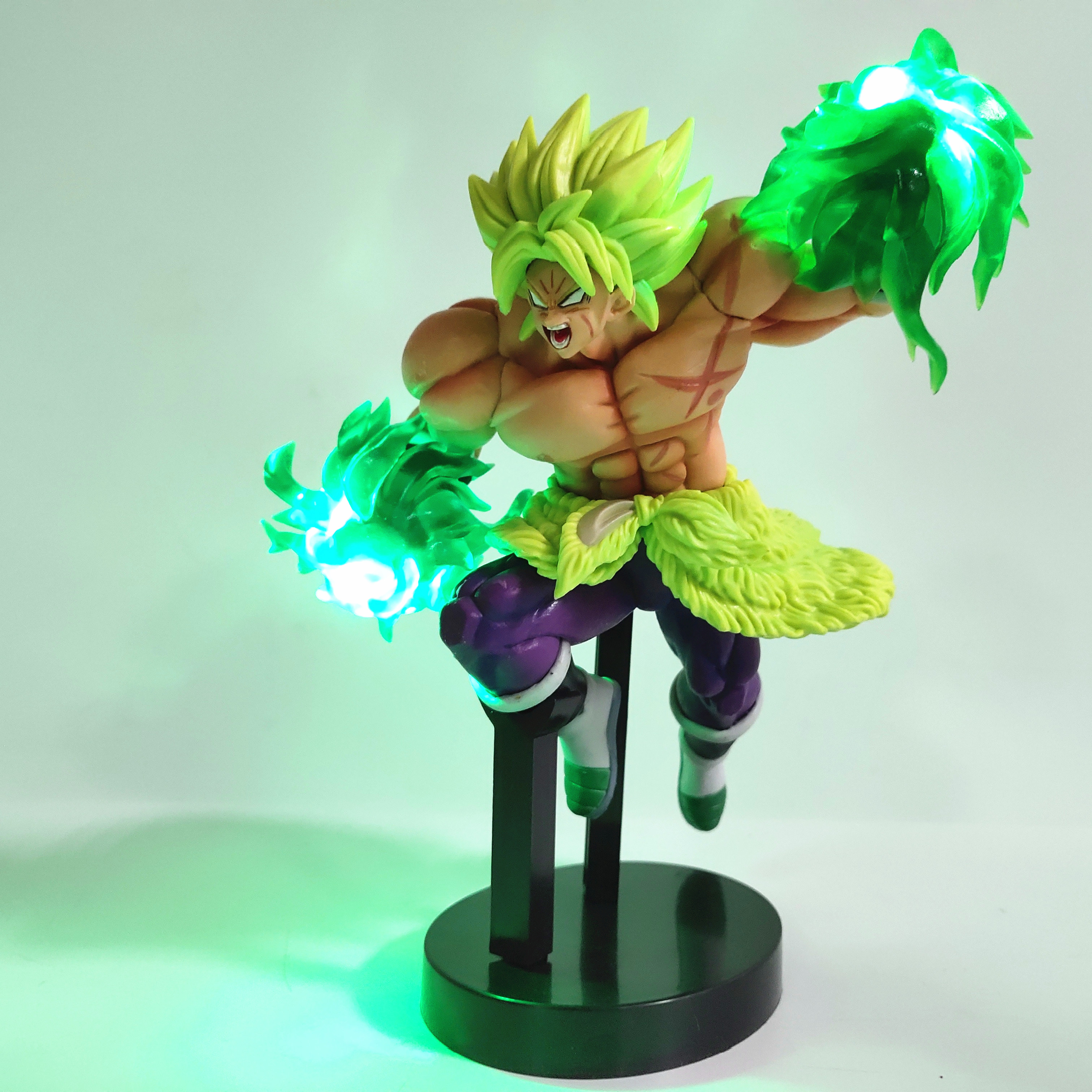 Dragon Ball Z Broly with Led Light Effect Action Figure 21cm 4