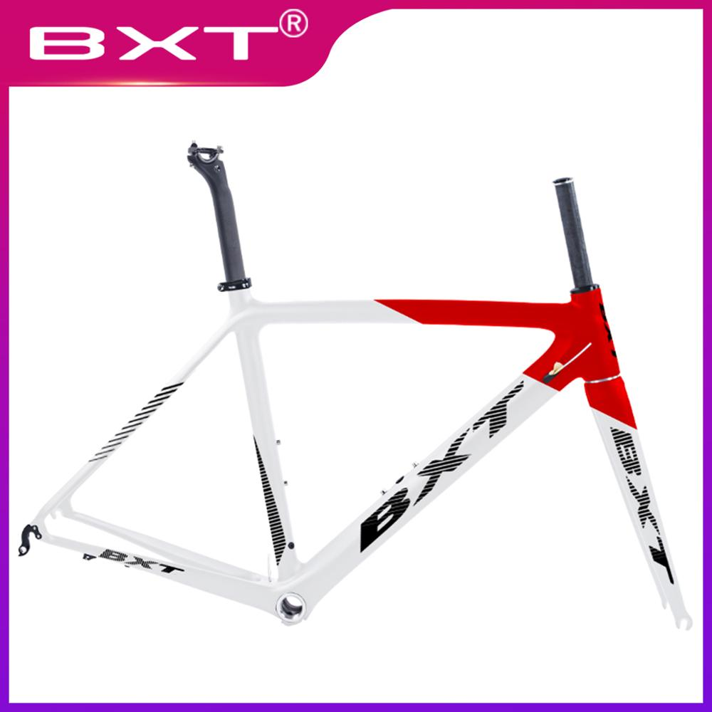2019 New Carbon Road Bike Frame Cycling Bicycle Frameset Ultralight Screw-in BSA 980g Di2/mechanical Racing Carbon Road Frame
