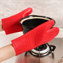 1 Piece Oven Mitt Heat Resistant Silicone Protective BBQ Grilling Gloves Accessories Bakeware Non-slip Oven mitt pearland oilers personalized oven mitt