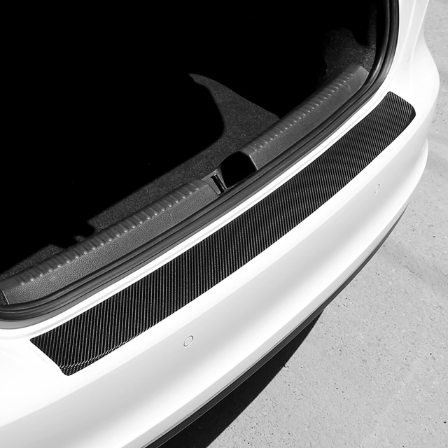 유니버설 카 트렁크 리어 가드 플레이트 스티커 미쓰비시 ASX 외계인 랜서 EX Pajero Opel Mokka 볼보 S60 V60 XC60