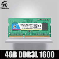 VEINEDA Sodimm DDR3L 2GB 4GB 8GB 1600MHz di Memoria Ram DDR 3L PC3-12800 204PIN Compatibile Tutti Intel AMD DDR3L del computer portatile