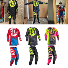 Protective-Gear-Set Pants Bike Motocross-Jersey Mountain-Bike Riding-Set Adult ATV Racing