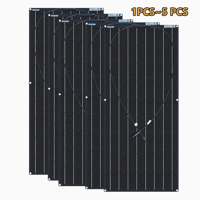 XINPUGUANG 1pcs~ 5pcs  18v 120W Black Flexible Solar Panel 18V/36v 240w 48V/18V 360W 12V/24V 480W 600W 1