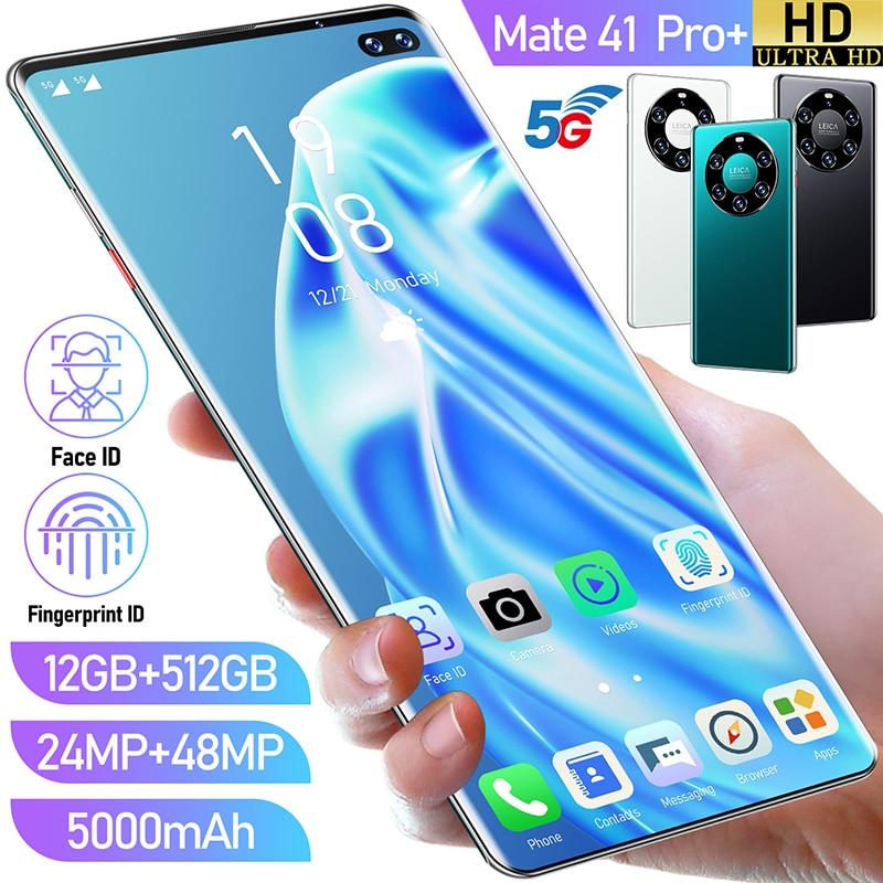Huawei Mate41Pro + 4G/ 5G küresel sürüm GPS 6.6 inç 12GB + 512GB akıllı telefon yüz kilidini Android 10.0 cep telefonu Mini cep telefonu