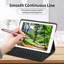 2 w 1 rysik do telefonu Tablet rysunek pióro dotykowe uniwersalny pojemnościowy ekran ołówek do iphone'a na ipada Smartphone Stylus