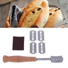 Lame à pain en bois outils boulangerie grattoir couteau à pain/trancheuse/coupe pâte pains marquant Lame avec lames et couvercle