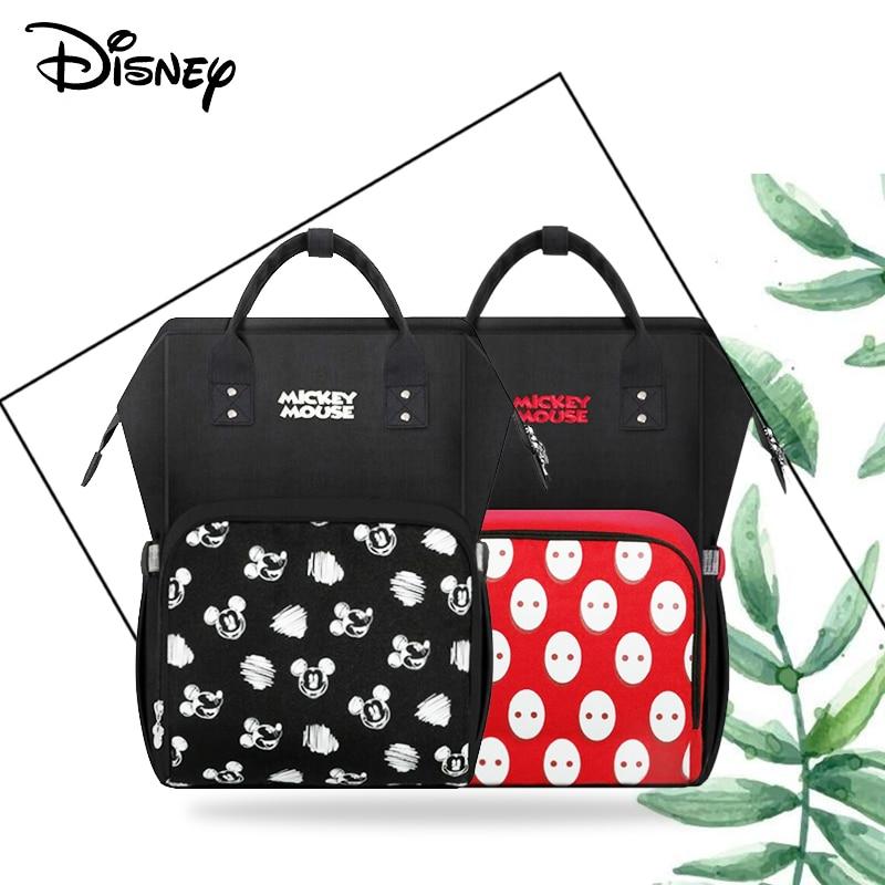 Disney Mummy Diaper Bag USB Large Capacity Waterproof Zipper Backpack Fashion Mummy Maternity Nappy Bags Baby Stroller Bag New