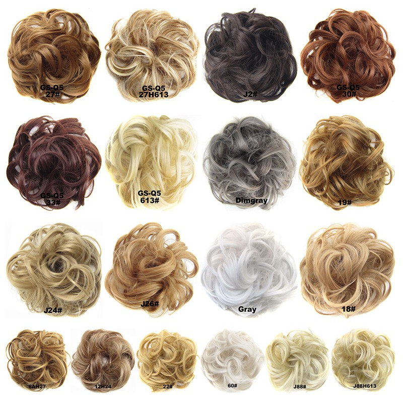 Women Ladies High Temperature Filament Elastic Wave Curly Synthetic Hairpieces Wrap Hair Accessories For Women Girls