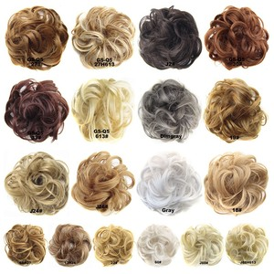 Women Ladies High Temperature Filament Elastic Wave Curly Synthetic Hairpieces Wrap Hair Accessories For Women Girls(China)