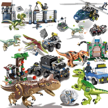 World Dinosaurs Figures Bricks Tyrannosaurus Indominus  I Rex Assemble Building Blocks Kid Toy Dinosuar