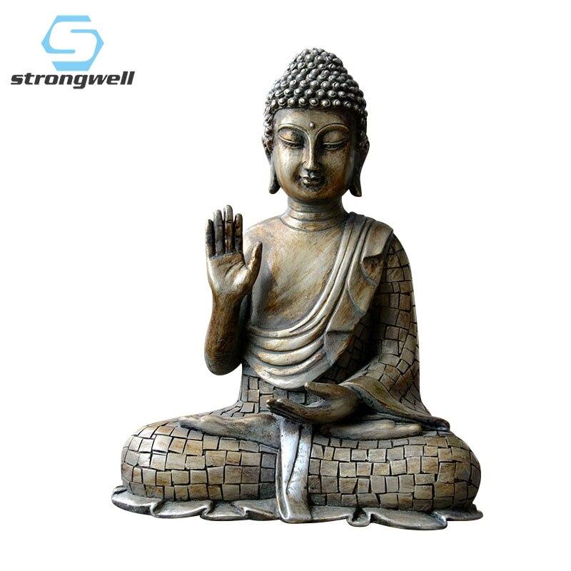 Resin Thailand Buddha Statue Resin Garden Buddha Retro Buddha Statue Meditating Buddha Statue Garden Ornament Sakyamuni