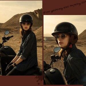 Image 5 - Винтажный мотоциклетный шлем GXT в стиле ретро, мотоциклетный шлем с открытым лицом для скутера, мотоциклетного гоночного шлема с сертификацией DOT