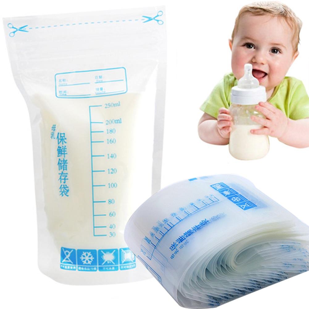 30pcs Breast Milk Storage Freezer Bag Disposable Labels Safe