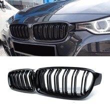 AL21 -1 пара глянцевая черная передняя решетка/решетки почек для BMW 3-Series F30 F31 F35 2012-2017 автомобильный Стайлинг