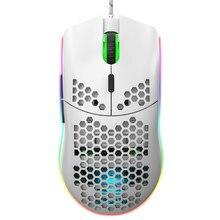 Hxsj j900 usb wired gaming mouse rgb gaming mouse com seis ajustável dpi design ergonômico para desktop computador portátil computador escritório