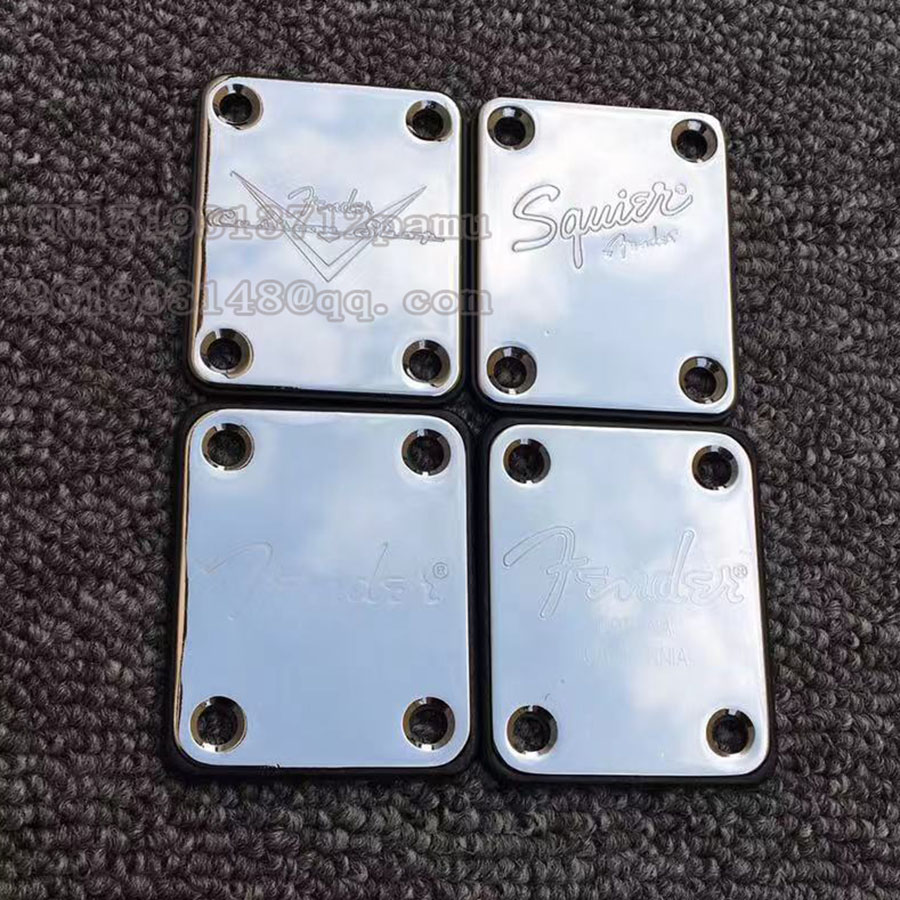 Chrome  Electric Guitar Custom Shop Plate For ST Tele Style Guitar Bass Neck Joint Board  Including Screws