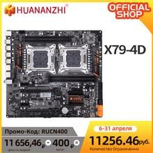 HUANANZHI-placa base X79 de doble CPU para Intel X79, LGA 2011, E5, DDR3, 1333, 1600, 1866MHz, 128GB, PCI-E, SATA3, USB 3,0, E-ATX