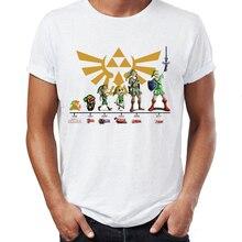 Men's T Shirt Link Evolution Zelda Ocarina of Time Artsy Awe