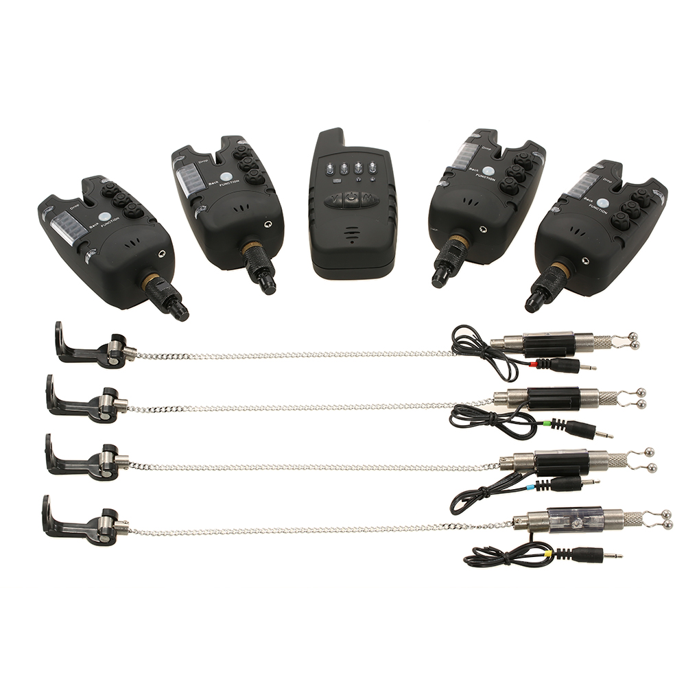 Lixada беспроводной сигнализатор укуса для рыбалки, цифровой комплект сигнализации для рыбалки, светодиодный индикатор сигнала тревоги, опов