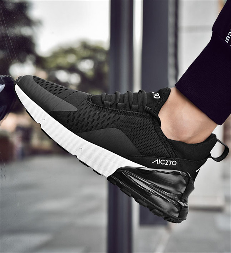Men's Sports Shoes Light Running Shoes Breathable Men's And Women's Zapatillas Hombre Deportiva 270 Air Cushion Men's Sneakers