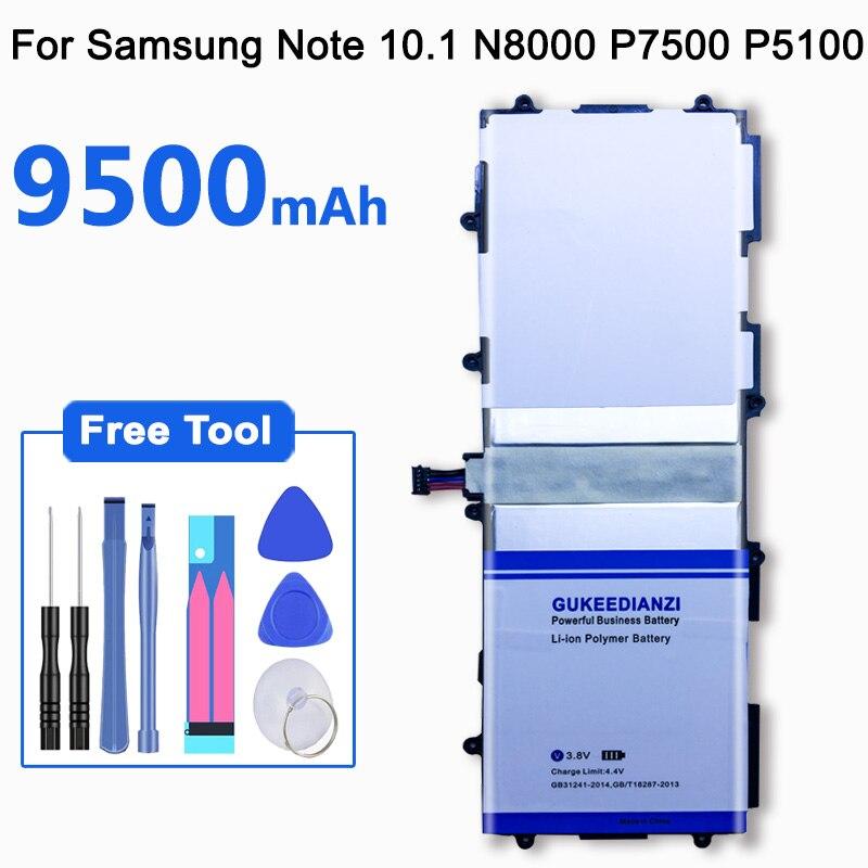 GUKEEDIANZI 9500 мАч SP3676B1A(1S2P) батарея для samsung GALAXY Note 10,1 GT N8000 N8010 N8020 GT P7500 P7510 Tab 2 P5100 P5110 gt p7500 battery p7500battery samsung p7500   АлиЭкспресс