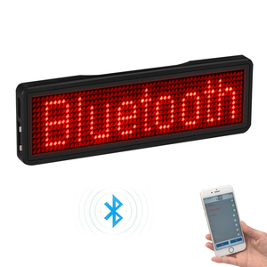 Bluetooth LED Badge Rechargeable Led Name Tag 11*55 wide LED trademark with magnet and pin for party event meeting