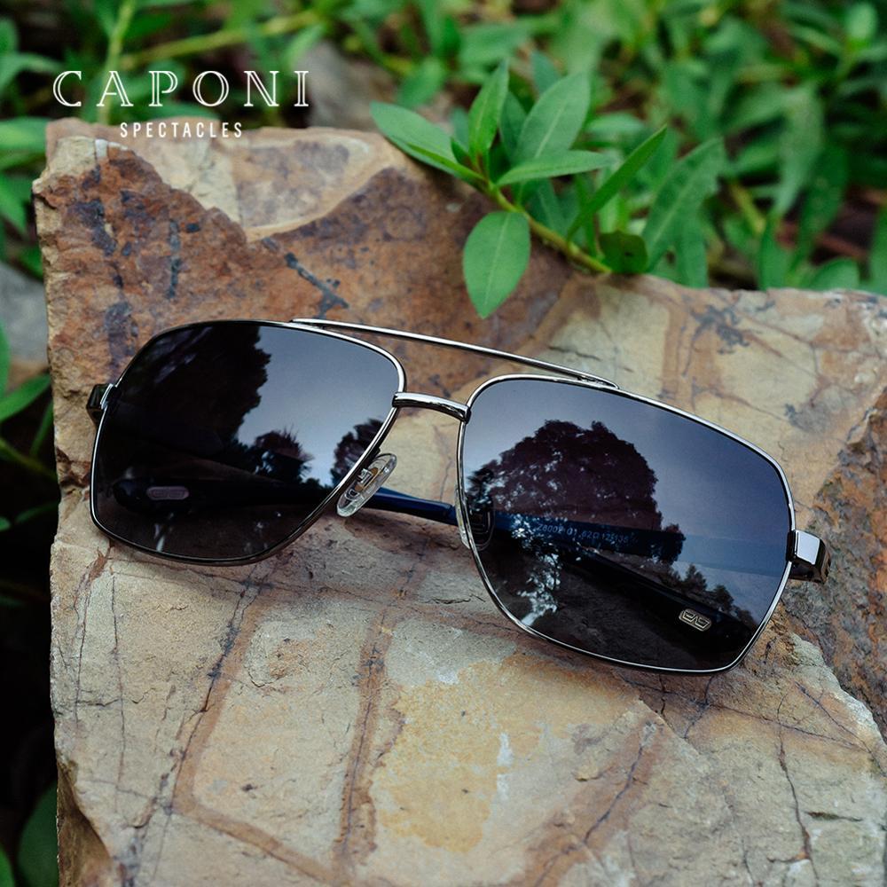 Квадратные Солнцезащитные очки CAPONI, мужские поляризованные очки с линзами, винтажные модные очки высокого качества, очки для вождения, CP8002|hd vision glasses|glasses stylevision glasses | АлиЭкспресс