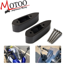 Motorrad Lenker Montieren Spiegel Riser Extender Extensions Adapter Kit Für Yamaha YZF R3 YZF R25 YZF R3 R25 2014 2015 2018