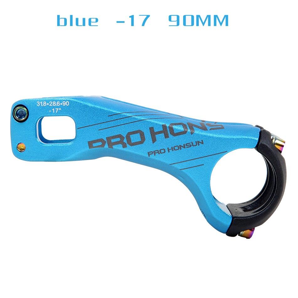HONSUN CNC fahrrad vorbau rennrad руля горного велосипеда mtb 20 град 28,6*31,8 мм* 90/70 мм radfahren fahrrad teile - Цвет: blue and 90MM