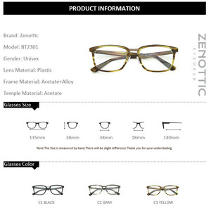 Image 5 - Квадратные оправы для очков ZENOTTIC из ацетата по рецепту для мужчин, прозрачные линзы, деловая оправа для очков, оптические очки для близорукости