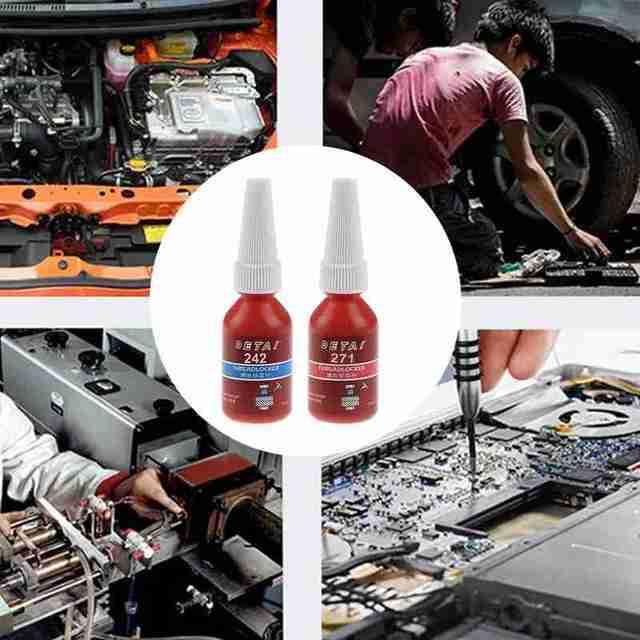 10ml M8-m16 Agent de verrouillage à vis 242 étanche Anti-corrosion adhésif pression Anti verrouillage bleu fil joint anaérobie colle T Q9F4