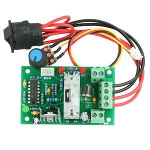Image 1 - تيار مستمر 6 30 فولت 6A سرعة المحرك تحكم عكسها PWM موتور التحكم إلى الأمام/عكس لوحة توزيع ماكس 10A 80 واط وحدة 12 فولت 24 فولت