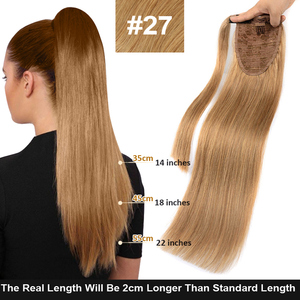 Image 2 - MRSHAIR Clip in Ponytail Extensions Machine Remy Wrap Around Ponytails Real Human Hair Extensions for Black Women Brazilian Hair