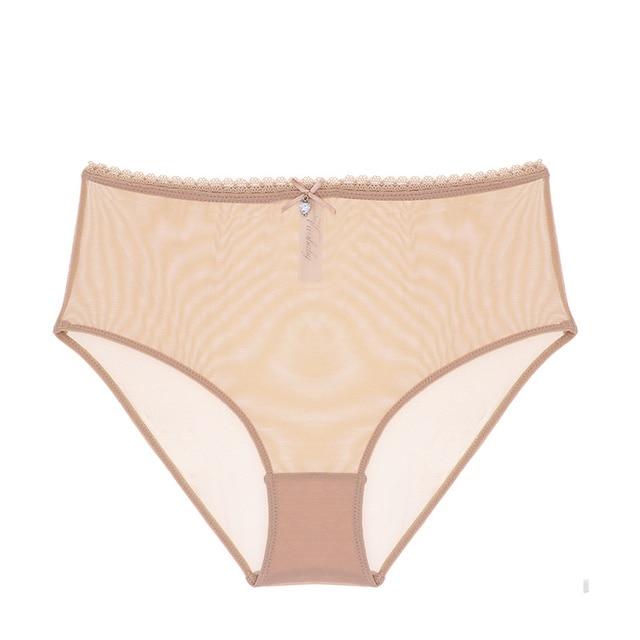 Varsbaby sexy high-waist panties transparent underwear unlined breathable yarn see-through bra set 6