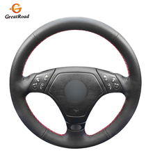 Hand Stitched Wrap BlackGenuine leather With Holes Car Steering Wheel Cover for BMW E36 E46 E39