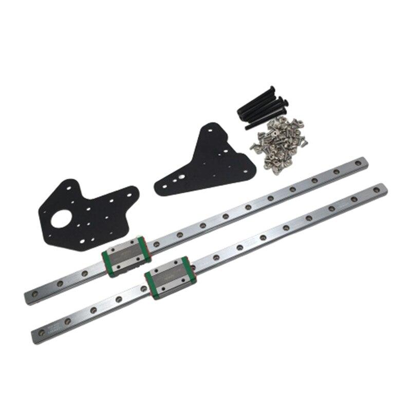 1 set Creality CR-10 Ender 3/3Pro dual Z achse MGN12H linear schienen kit Für Creality Ender-3 ender-3s S4 s53D Drucker