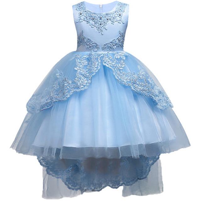 Kids Formal Dress Flower Pageant Birthday Party Princess Dress Girls  14 Years