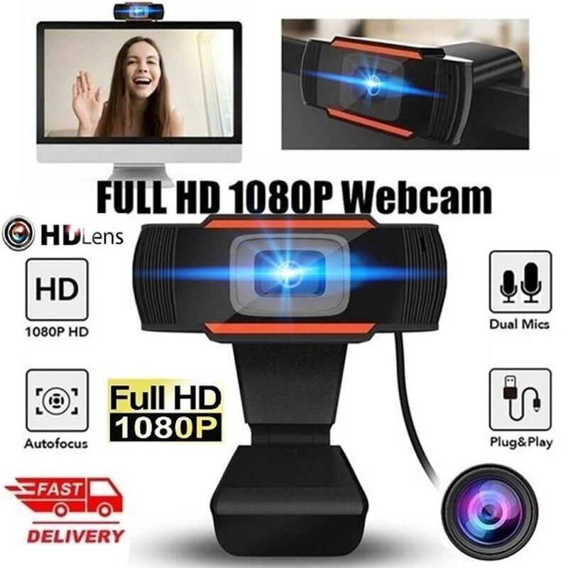Full HD 1080p Computer Webcam Web Camera Cam Digital Video Webcamera with CMOS Image for PC Desktop Laptop Calling Conference