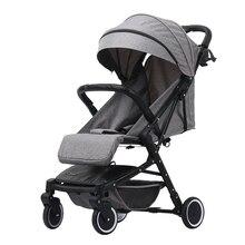 Lichtgewicht opvouwbare kinderwagen voor kinderen 2 in 1 Kan zitten en liggen Travel system bebek arabas