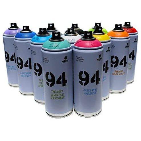 Montana MTN 94 Spray Paint 400ml Popular Colors Set Of 12 Graffiti Street Art Mural Aerosol Paint Main Set