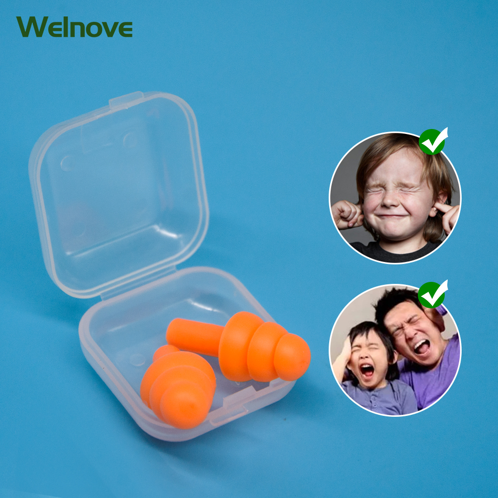 6pcs/3boxes Comfort Earplugs Noise Reduction Silicone Soft Ear Plugs Swimming Silicone Earplugs Protective For Sleep D1979