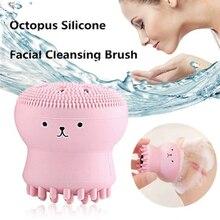 Очищающая щетка для лица, средство для очистки лица, шампунь, Массажная щетка, очищающая лицо, модная основная губка, 4 цвета