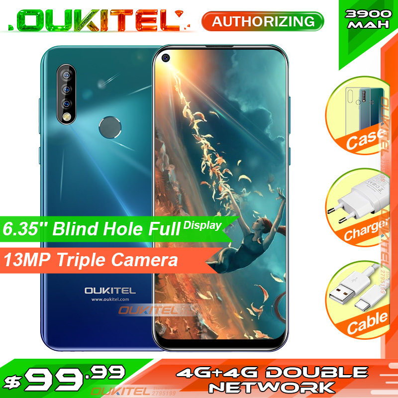 OUKITEL C17 Pro 6.35'' 19:9 4GB RAM 64GB ROM MT6763 Smartphone 13MP Fingerprint Octa Core Android 9.0 4G Mobile Phone 3900mAh