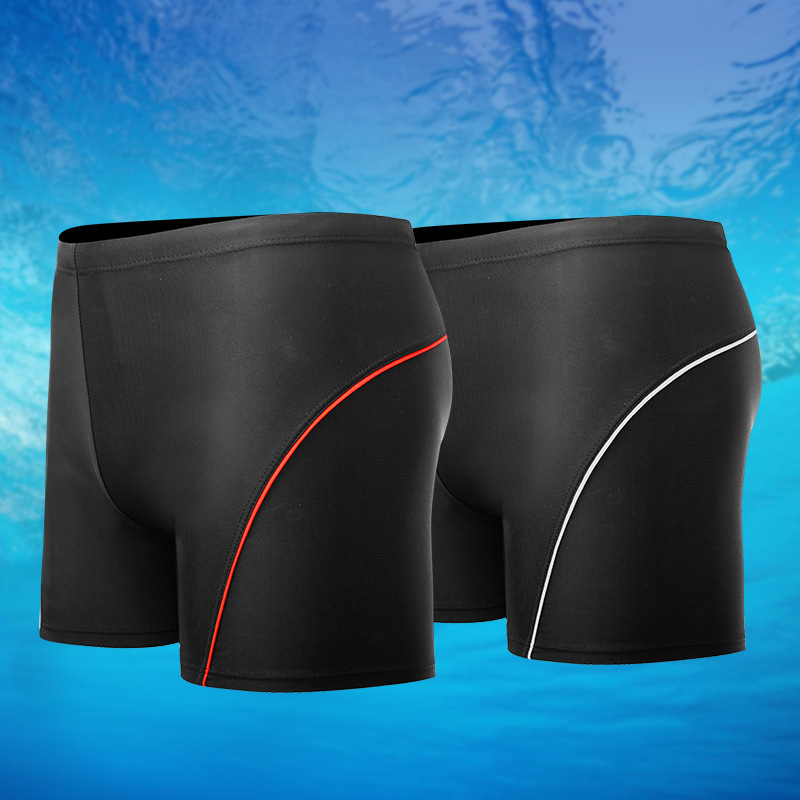 New Style MEN'S Swimsuit Solid Color Shorts Large Size Boxers Swimwear Fashion Beach Pool Hot Springs Sports Swimming Trunks
