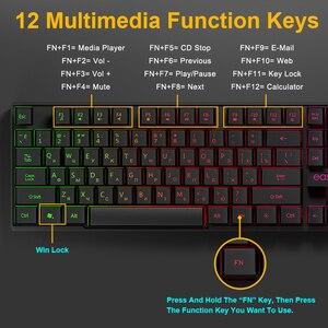Image 3 - Gaming Keyboard Gamer Mechanical Imitation Keyboard Gaming RGB Keyboard with Backlight Ergonomic Key Board 104 Keycaps for PC
